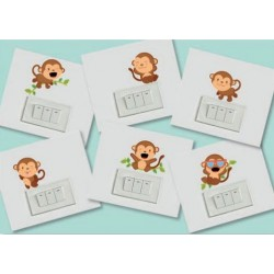 Stickers Monkeys - Small